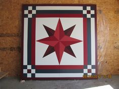 barn quilt patterns | Sneak Peak: Pictured above is a 8X8 painted barn quilt. The pattern is ...
