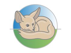 Fennec Fox Illustration designed by Jonathan Wynne. the global community for designers and creative professionals. Fox Illustration, Illustrations, Giraffe, Elephant, Fennec Fox, Cartoon Characters, Mammals, Pikachu, Character Design