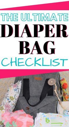 Diaper Bag Checklist, Diaper Bag Essentials, Cute Diaper Bags, Best Diaper Bag, Third Baby, Preparing For Baby, Bottle Feeding, Hospital Bag, What To Pack