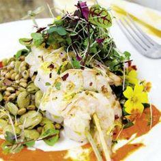 Field Pea, Shrimp, & Pepper Coulis Salad