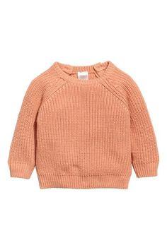 Rib-knit cotton jumper - Apricot - Kids | H&M GB