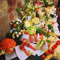 #vegetable #art created by children at #Wells #food #festival