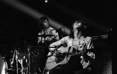 Keith Richards and Charlie Watts on Stage, 1972. © Jim Marshall Photography LLC, Courtesy Steven Kasher Gallery, New York