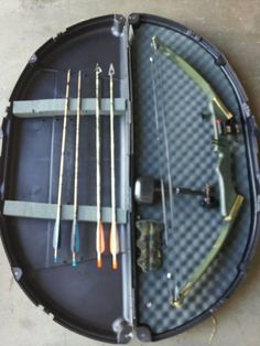Compound Bow, Case and Arrows