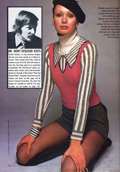 Mr.Mort almost out-trompes Roberta di Camerino with these fantastic trompe l'oeil sweaters from 1975