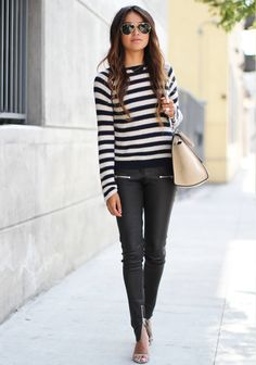 leather and stripe love
