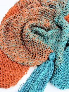 """Add this project to your Ravelry favorites HERE.  To print or convert to PDF click the green """"Print Friendly"""" button below the pattern.    Mermaid Isle Scarf by Kim Guzman © Apr. 2017. All rights reserved. Email to kim@crochetkim.com Please read my Terms of Use Technique: Tunisian Crochet"""