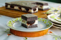 Szilvalekváros túrós mákkocka (paleo) Paleo Recipes, Paleo Food, Cheesecake, Rolls, Pudding, Cukor, Sign, Poppy, Google