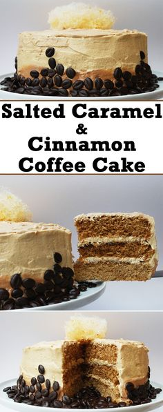 This delicious salted caramel and cinnamon coffee cake will fulfill all of your cravings!