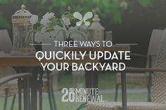3 ways to quickly update your #backyard from the Caldera Spas #blog. #BackyardDesign #Garden #Deck Design