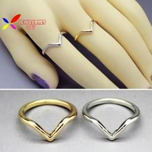 Simples forma liga de prata de ouro mulheres anéis anel de dedo(China (Mainland))