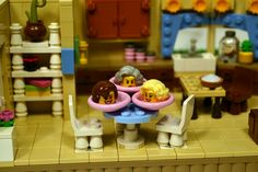 LEGO Ideas - The Golden Girls Living Room and Kitchen Modular Set with Dorothy, Rose, Blanche, Sophia, and Stan