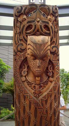 Sacred Maori Spirit Guardian - Carving school, Te Puia, NZ