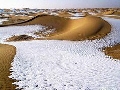The Sahara Desert after snow fell, 1979