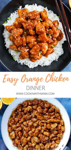 Why buy orange chicken takeout when you can make it at home in less than 30 minutes? Grab this super Easy Orange Chicken Recipe (with homemade sauce). Easy Orange Chicken, No Fry Orange Chicken Recipe, Recipe Chicken, Orange Chicken Sauce, Chinese Orange Chicken, Cashew Chicken, Chinese Food, Def Not, Health Dinner