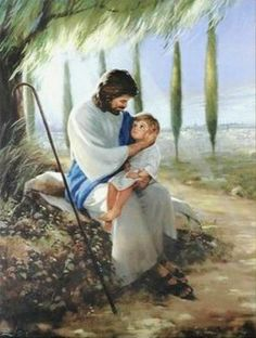 For all the mothers who have suffered from a loss of a child, always remember our children are with the man above... Seeing this picture is like seeing Jesus holding and protecting my child.
