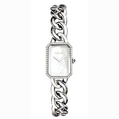 PREMIÈRE, CHAIN BRACELET, STEEL AND DIAMONDS  Steel case set with 56 brilliant-cut diamonds (~ 0.19 carats).