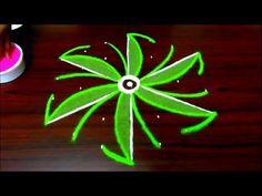 very easy rangoli designs with colours || beautiful kolam designs || simple colour muggulu designs - YouTube
