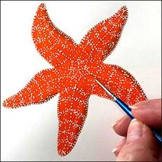 Starfish painting DIY for kids Diy Painting, Botanical Art, Art Festival, Orange Paint, Beautiful Artwork, Sketch Painting, Painting, Starfish Painting, Nature Artists