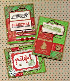 Her Peaceful Garden: Twiny Christmas Cards