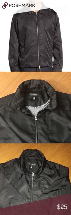 Saks Fifth Avenue Men's Black Hooded Bomber Saks Fifth Avenue Men's black hooded bomber jacket. NWOT Saks Fifth Avenue Jackets & Coats Windbreakers