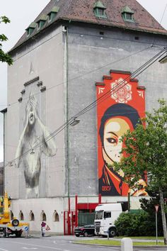 Shepard Fairey , Faith47, Stinkfish, Dan Witz - Vienna, Austria... - unurth | street art