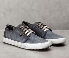 Coleção Garage Clap 129103-001 Tipo: Sapatênis Cor: Jeans Azul Estilo: Casual/Esportivo Marca: Democrata
