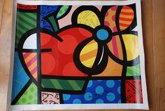 Manzana y flor South American Art, Arte Country, Arte Pop, Paint Furniture, Cube, Scrap, Crafts, Painting, Pop Art