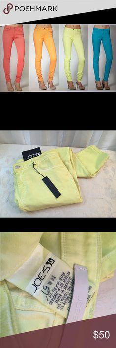 Joes Yellow Skinny Jeans Joes skinny Jean, Yellow Beautiful Color, new condition Joe's Jeans Pants Skinny