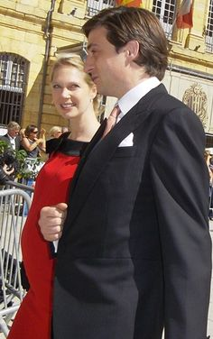 Noblesse & Royautés:  Archduchess Marie Christine, eldest daughter of Archduke Christian of Austria and Princess Marie Astrid of Luxembourg, and her husband Count Rodolphe de Limburg Stirum, shown at the wedding of her cousin Prince Felix in September, had a son Constantin on October 25, 2013.  The couple, who married in 2008, have an elder son Léopold born on April 29, 2011.