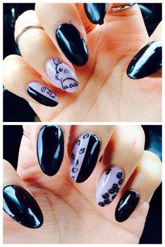 Studio Ghibli Totoro Nails ^_^