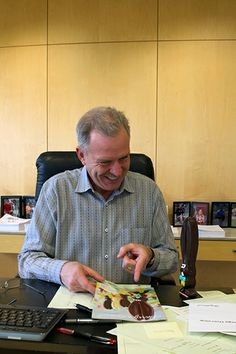 Craig Johnson (our CEO) and Ears share a laugh as they look at a catalog with a familiar face on it. Happy Easter! #allears  See where he goes next on Instagram: http://www.instagram.com/harryanddavid