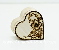 Ring Box/ Engagement Ring Box/ Woodburned by AnniesArtBook on Etsy, $8.50