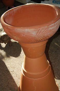 24 Best Terra Cotta Bird Bath Images Garden Crafts