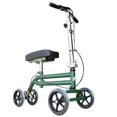 Steerable Knee Walker Scooter Green. Details at http://youzones.com/steerable-knee-walker-scooter-green/