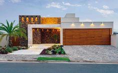 Fachadas de casas com mármores - veja modelos lindos e dicas de como usar! - Decor Salteado - Blog de Decoração e Arquitetura