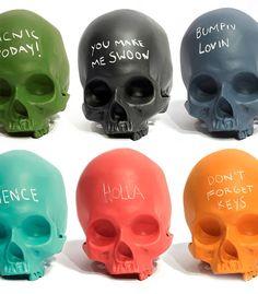Chalkboard Skulls by iamhome