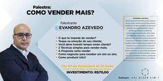 Evandro Azevedo ensina técnicas de vendas para profissionais de eventos http://ift.tt/2yTcXoi