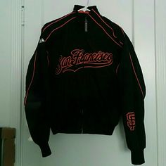 Authentic Majestic San Francisco Giants Jacket Women's Medium Only worn a couple of times Remains in fabulous condition No flaws Majestic Jackets & Coats