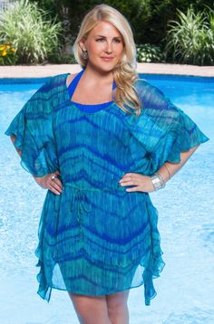 74326e20ccbdf Always For Me Butterfly Sleeve Plus Size Cover Up