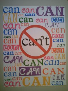 """each child draws and colors their own """"can"""" for this poster in the classroom"""