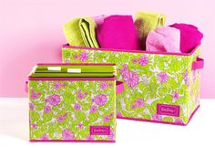 The Preppy Princess|Lilly Pulitzer Organizational Boxes $20