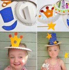 Perfect ideas for Carnival by recycling dishes and glasses basteln m . - Perfect ideas for Carnival by recycling . Hat Crafts, Diy And Crafts, Crafts For Kids, Arts And Crafts, Projects For Kids, Diy For Kids, Craft Projects, Toddler Activities, Activities For Kids