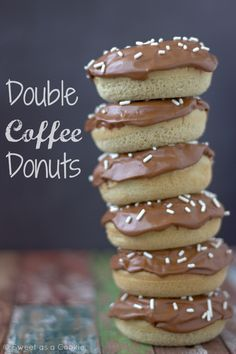 Double Coffee Donuts via Sweet as a Cookie