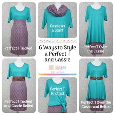 6 Ways to Style your LuLaRoe Perfect T and LuLaRoe Cassie skirt!