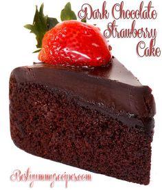 Dark Chocolate Strawberry Cake by Thinkarete, via Flickr   (flour??)