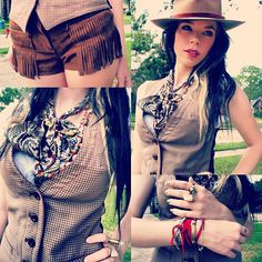 i think today's #ootd has taken an unintentional wild west turn! maybe it's my fringed shorts!  - @Kora Koch- #webstagram