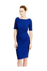 Round Neck Textured Shift Dress,