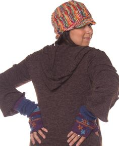 Knitted Wool Hat: Soul Flower Clothing