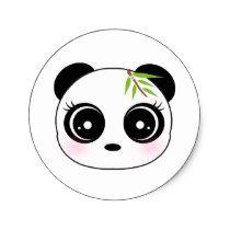 Shop Cute panda face classic round sticker created by pocket_lounge. Kawaii Drawings, Easy Drawings, Panda Face Painting, Panda Kawaii, Cute Panda Cartoon, Cute Panda Drawing, Panda Lindo, Panda Nursery, Panda Illustration